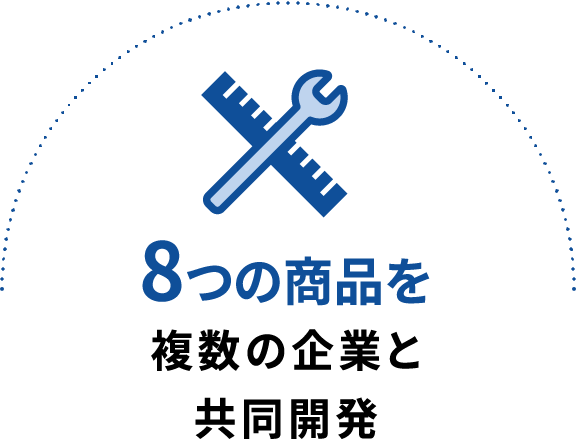 8つの商品を複数の企業と共同開発